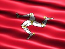 flaga na wyspę man Obrazy Stock