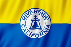 Flaga Nadrzeczny miasto, Kalifornia USA royalty ilustracja