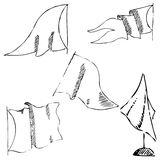 Flaga nakreślenie Ołówkowy rysunek ręką Obrazy Stock
