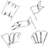Flaga nakreślenie Ołówkowy rysunek ręką Obrazy Royalty Free