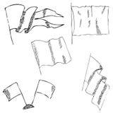 Flaga nakreślenie Ołówkowy rysunek ręką Obraz Stock