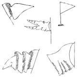 Flaga nakreślenie Ołówkowy rysunek ręką Obraz Royalty Free