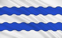 Flaga Nanterre, Francja ilustracji