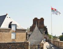 Flaga Nantes nad kasztelem diucy Brittany Obraz Stock