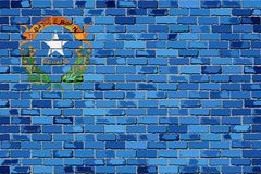 Flaga Nevada na ściana z cegieł Fotografia Stock