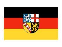 Flaga Niemiecki stan Saarland royalty ilustracja