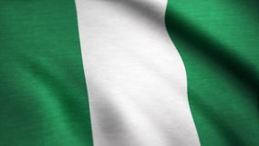 Flaga Nigeria animacja Nigeria flaga falowanie na wiatrze royalty ilustracja