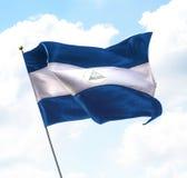 flaga Nikaragui Zdjęcie Royalty Free