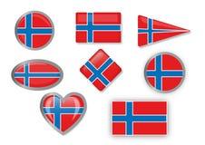 Flaga Norwegia Fotografia Royalty Free