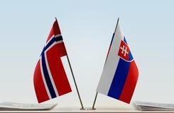 Flaga Norwegia i Sistani obrazy stock