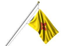 flaga nowy odosobniony Mexico Obrazy Stock