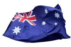 Flaga odizolowywająca z chodzenie fala na flaga Australia obywatel obraz royalty free