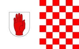 Flaga okręg administracyjny Tyrone jest okręgiem administracyjnym w Irlandia obraz royalty free
