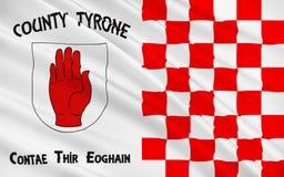 Flaga okręg administracyjny Tyrone jest okręgiem administracyjnym w Irlandia zdjęcia royalty free