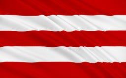 Flaga okręgu administracyjnego korek jest wielkim i południowym okręgiem administracyjnym w Ir ilustracja wektor