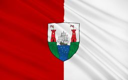 Flaga okręgu administracyjnego korek jest wielkim i południowym okręgiem administracyjnym w Ir ilustracji
