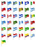 Flaga północ i południe Ameryki krajów wektoru ilustracja Zdjęcia Royalty Free