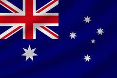 Flaga państowowa Australia royalty ilustracja