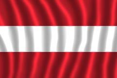 Flaga państowowa Austria trzy równych horyzontalnych zespołów czerwony wierzchołek, biel i czerwień, royalty ilustracja