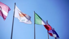 Flaga państowowa Cypr, Włochy i Chorwacja, zbiory