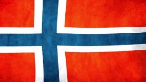 Flaga państowowa Norwegia falowanie w wiatrze royalty ilustracja