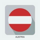 flaga państowowa płaski projekt, świat flaga, Europe azjata flaga Fotografia Stock