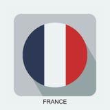 flaga państowowa płaski projekt, Europe flaga, azjata flaga Obrazy Royalty Free