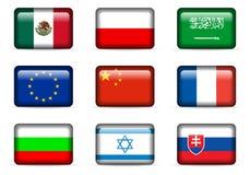 Flaga państowowa set Zdjęcie Royalty Free