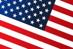Flaga państowowa Stany Zjednoczone Ameryka z czerwień lampasami i biel gwiazdami Gradientowy kolor patriotyczny t?o ilustracji