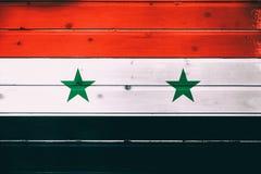 Flaga państowowa Syria obrazy royalty free