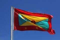 Flaga państowowa Grenada Zdjęcia Royalty Free