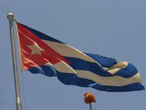 Flaga państowowa Kuba, flaga Kuba Zdjęcie Stock