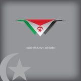 Flaga państowowa Sahrawi arab Obrazy Stock
