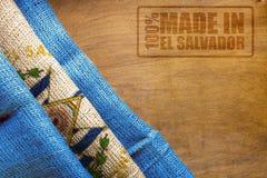 Flaga państowowa Salwador i znaczek Obrazy Royalty Free