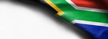Flaga Południowa Afryka na białym tle Zdjęcie Royalty Free