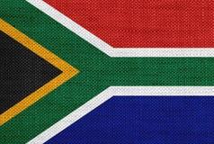 Flaga Południowa Afryka na starej pościeli Zdjęcie Stock