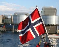 flaga po norwesku Zdjęcie Stock