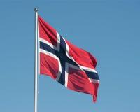 flaga po norwesku Zdjęcia Royalty Free