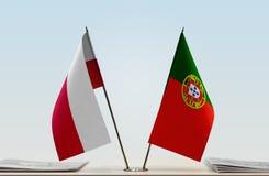 Flaga Polska i Portugalia zdjęcie royalty free