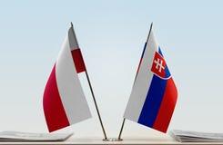 Flaga Polska i Sistani obrazy royalty free