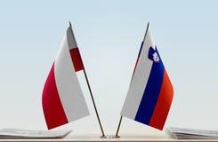 Flaga Polska i Slovenia obraz royalty free