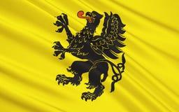 Flaga Pomorski Voivodeship w centrali Polska Zdjęcia Stock
