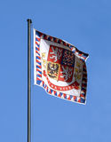 flaga Prague zamek Zdjęcia Royalty Free
