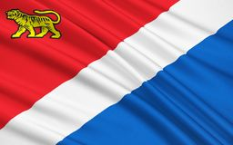 Flaga Primorsky Krai, federacja rosyjska Ilustracji