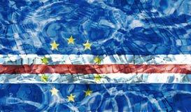 Flaga przylądek Verde royalty ilustracja