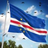 Flaga przylądek Verde ilustracja wektor