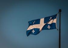 Flaga Quebec - Fleurdelisé obraz stock