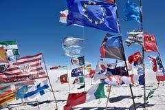 Flaga różnorodni narody, Boliwia Obrazy Stock