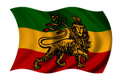 flaga rastafarian royalty ilustracja