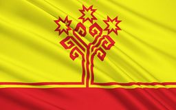 Flaga republika Chuvash, federacja rosyjska Ilustracji